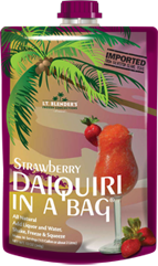 Lt. Blender's Strawberry Daiquiri in a Bag
